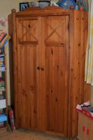 Foto 5 Kinderzimmer mit Eckschrank, Hochbett & Kommode Kiefer massiv