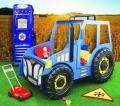 Kinderzimmer, Traktorbett mit Matratze gratis Montage