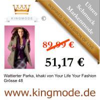 Kingmode.de - Markenmode f�r gehobene Anspr�che -Wattierter Parka, khaki von Your Life Your Fashion Gr�sse 48