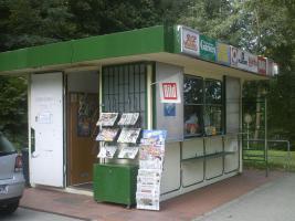 Kiosk begehbar