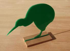 Kiwi Vogel Figur Dekoration Acrylglas