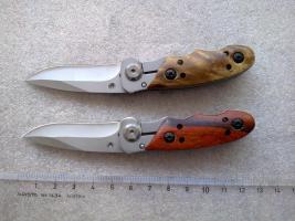 Klappmesser Rosenholzgriff oder Wurzelholzgriff Schlüsselanhänger