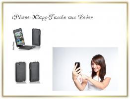 Klapptasche passend f�r iPhone4 aus Leder - Neu
