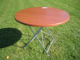 Klapptisch, Tisch, Gartentisch 90cm Dm.
