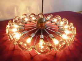 Foto 3 Klassiker 70er Jahre - Lampe mit Glas und Chrom