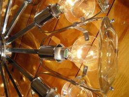 Foto 5 Klassiker 70er Jahre - Lampe mit Glas und Chrom
