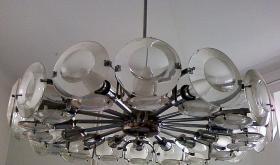 Foto 6 Klassiker 70er Jahre - Lampe mit Glas und Chrom