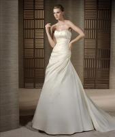 Klassische Brautkleid in A-Linie - vom PRONOVIAS-Label White One - inkl. Accessoires!