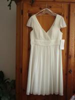 Foto 2 Kleid naturweiss neu, Fashion New York, mit passendem Schal -NP zusammen 173, - €