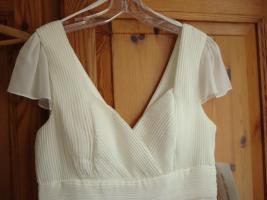 Foto 3 Kleid naturweiss neu, Fashion New York, mit passendem Schal -NP zusammen 173, - €