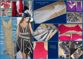 Kleider - fast alle aus reiner Seide - Gr. 36, 40, 42, 46 - Designer-Kleider - viele ungetragen