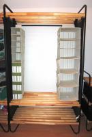 Kleiderschrank Regal IKEA mit Einhängefächern 114x51x196cm