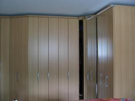 Kleiderschrank, Anbausystem, Buche hell