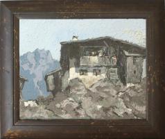 Kleines Gemälde ''Hoher Berghof''