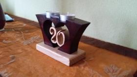 Foto 3 Kleines Holzherz mit Teelichhalterung