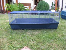 Kleintierkäfig - Fb dunkelblau - Gr. 130cm Länge - 78cm Breite - leichte Gebrauchsspuren - 15€