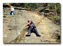 Klettern als Kletterkurs am Fels im Albtal - Natursport wie er sein soll