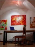 Knackig bunte Acrylbilder von Corinna Kirchhof, Passau