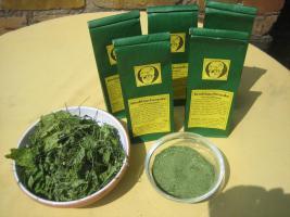 Knoblauchsrauke gemahlen; ganzjähriger lecker Knoblauchs-Geschmack; Naturkost vom Paradiesplatz
