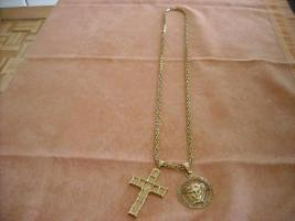 Foto 2 Königskette mit 2 Anhängern und Armband