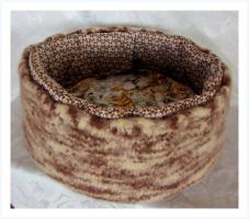 Foto 2 Körbchen aus Schurwolle gefilzt