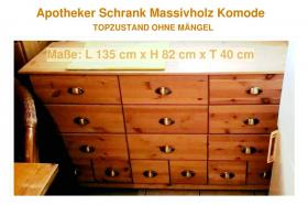 Foto 3 Komode Massivholz Apotheker Schrank