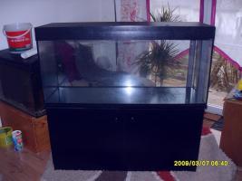 Komplett Aquarium , Aussenfilter, Beleuchtung, Unterschrank