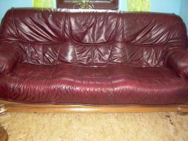 Komplette Nappa Leder Couch Garnitur 3er, 2er und ein Einzelsessel