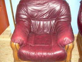 Foto 4 Komplette Nappa Leder Couch Garnitur 3er, 2er und ein Einzelsessel