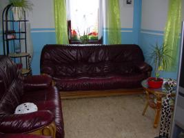 Foto 6 Komplette Nappa Leder Couch Garnitur 3er, 2er und ein Einzelsessel