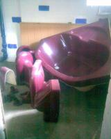 Komplettes Badezimmer mit Eckbadewanne
