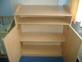Foto 3 Komplettes Kinderzimmer mit 2 Kinderbetten, Schrank und Wickelkomode