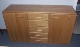 Foto 5 Komplettes Schlafzimmer aus Massivholz inkl. 2,10m Bett + Motorrahmen, Kommoden, Schrank, Nachttisch