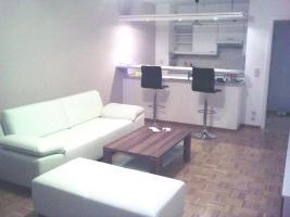 Komplettes Wohnzimmer, Wohnwand, Esstisch, TV Tisch, Ledercouch, Regal