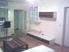 Foto 2 Komplettes Wohnzimmer, Wohnwand, Esstisch, TV Tisch, Ledercouch, Regal