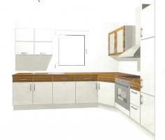 Komplettküche mit Geräten zu verkaufen L-Form