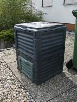 Komposter 80 x 60 x 60 cm mit Deckel und Bodenöffnung