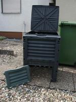 Foto 2 Komposter 80 x 60 x 60 cm mit Deckel und Bodenöffnung