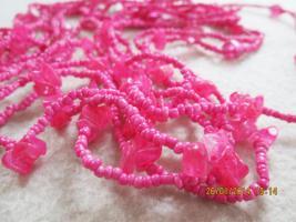 Foto 3 Konvolut Set Schmuck Ketten, Uhr, . NEU & unbenutzt Modeschmuck 9 Stück pink