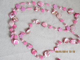 Foto 12 Konvolut Set Schmuck Ketten, Uhr, . NEU & unbenutzt Modeschmuck 9 Stück pink