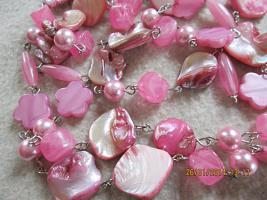 Foto 13 Konvolut Set Schmuck Ketten, Uhr, . NEU & unbenutzt Modeschmuck 9 Stück pink