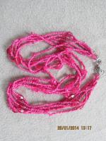Foto 14 Konvolut Set Schmuck Ketten, Uhr, . NEU & unbenutzt Modeschmuck 9 Stück pink