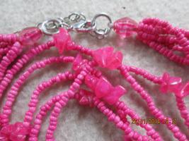 Foto 15 Konvolut Set Schmuck Ketten, Uhr, . NEU & unbenutzt Modeschmuck 9 Stück pink