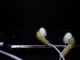 Foto 7 Kopfh�rer Apple iPod / iPhone gold / Farbe Diamant Ohrh�rer