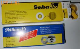 Korrekturbänder (Lift-Off-Ssytem) für verschiedene Schreibmaschinentypen