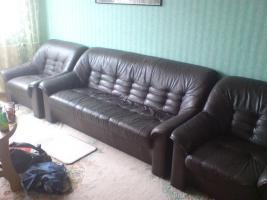 Kostenlose Couchgarnitur abzugeben Echtes Leder!!!Herne