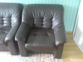 Foto 2 Kostenlose Couchgarnitur abzugeben Echtes Leder!!!Herne