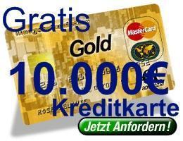 kostenlose kreditkarte gold mit einem verf gungsrahmen bis