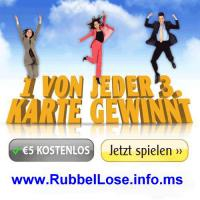 Kostenlose Rubbel-Lose - 1 Million-Jackpot
