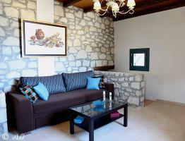 Kreta, Luxuriöse Stein-Villa in kretischen Ambiente mit imposantem Meerblick